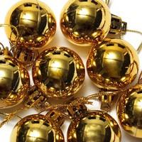 Elitparti Yılbaşı Ağacı Süsleme Topları Altın Rengi (Kutuda 6 Adet 8cm çapında)