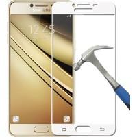 Teleplus Samsung Galaxy C7 Full Kapatan Kırılmaz Cam Ekran Koruyucu