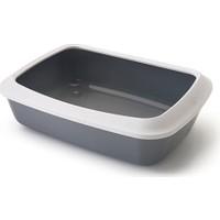 Savıc Irız Acık Kedı Tuvaletı 42 Cm Beyaz/K.Grı