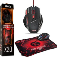 İzoly X20 Oyuncu Mouse Ve Mouse Pad