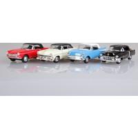 Welly Cehvrolet Bel Air - Ford Crestliner - Peugeot 504 - Cadillac Eldorado 4'lü Set