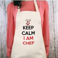 iF Dizayn Keep Calm I am Chef Mutfak Önlüğü