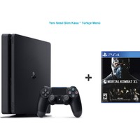 Sony Ps4 Slim 500 GB Cuh - 2016A Oyun Konsolu + Mortal Combat XL Ps4 Oyun