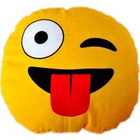 Emoji Yastık - Dil Çıkaran Emoji Yastık