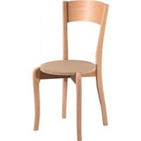 Masifart 7133 Tek Tepeli Sandalye Cilasız Ahşap
