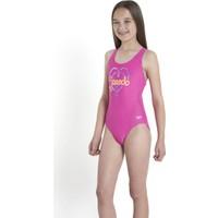 Speedo Logo Plmt Spbk Jf Pnk/Oran Kız Çocuk Mayo
