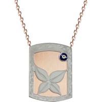 Altınsepeti Gümüş Gözlü Çiçek Plaka Kolye G235Kl