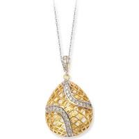 Altınsepeti Gümüş Sarı Altın Kaplama Kafes Kolye Asmk000055