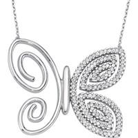 Altınsepeti Gümüş Taşlı Kelebek Kolye G536Kl