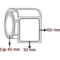 Barkodsarf Eko Termal 100 mm x 50 mm Barkod Etiketi Çap 40 mm (6 Rulo)