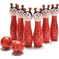 Noname Uğur Böceği Mini Ahşap Bowling Oyunu