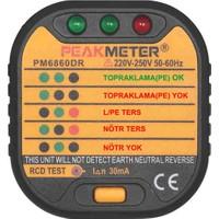 Peakmeter PM 6860DR Priz Test Aleti