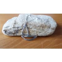 Affix Silver Gümüş Özel Tasarım Yelkenli Kolyesi