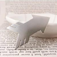 Affix Silver Gümüş Özel Tasarım Ok İşareti Yön Kolyesi