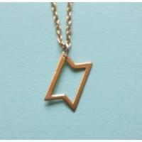 Affix Silver Gümüş Özel Tasarım Geometrik Şekil Kolye Rose Renk