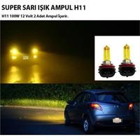 Carub Süper Sarı H11 Far Ampulü 12 Volt 100 Watt