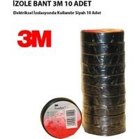 Nettedarikcisi Ozy Elektrik İzole Bant 3M Siyah Üst Kalite 10 Lu