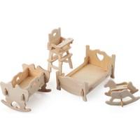 İdeal 3D Ahşap Maket Çocuk Odası