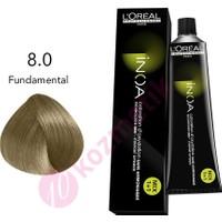 Loreal İnoa Amonyaksız Saç Boyası No: 8.0 Fundamental 60Ml.