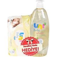 Uni Baby Şampuan 750 ml+ Uni Baby Sensitive Islak Mendil