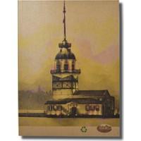 Deffter Krafton Defter 9,5X14 / Kraft İstanbul Small-Kız Kulesi