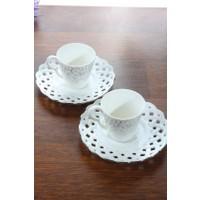 Loveq Porselen 2'Li Kahve Takımı Thm-Hhp-3038-G