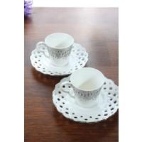 Loveq Porselen 2'Li Kahve Takımı Thm-Hhp-3036-G