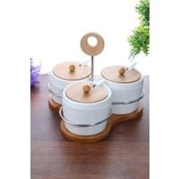 Loveq Porselen 3'Lü Baharatlık Seti Thm-Hhp-3087