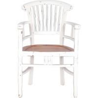 Maxxdepo Beautiful Maun Sandalye Kollu Beyaz
