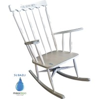 Maxxdepo Crocus Beyaz Mavi Sallanan Sandalye