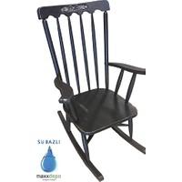 Maxxdepo Crocus Eskitme Siyah Sallanan Sandalye