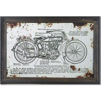 Wenge Home Vintage Tablo 60x40x2 Cm