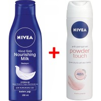 Nivea Vücut Sütü 250 Ml+Powder Touch Deodorant 150 Ml Set