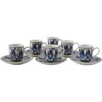 Quartz Ceramics El Yapımı Seramik Türk Kahvesi Seti
