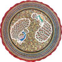 Quartz Ceramics El Yapımı Seramik 40 cm Tabak