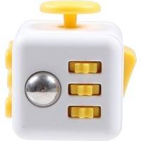 Probiel Orijinal Fidget Cube Kikstarter Versiyon Stres Küpü Sarı Beyaz
