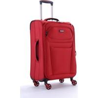 U.S. Polo Assn. 6056 4 Tekerlekli Kabin Boy Valiz Kırmızı