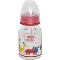 Bebedor %0 Bpa Desenli Cam Biberon 125 ml Kırmızı