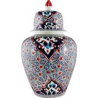 Quartz Ceramics El Yapımı 30 cm Seramik Kavanoz