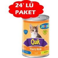 Quik Junior Tavuklu Yavru Kedi Konservesi 400 Gr (24 Adet)