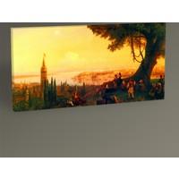 Tablo 360 İvan Ayvazovski Tepebaşı'ndan Galata ve İstanbul 60x30