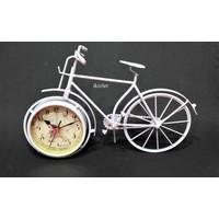 İkizler Bisiklet Saat Beyaz