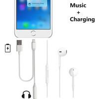 Microcase iPhone 7-7 Plus Lightning to 3.5 mm Jack Kulaklık+ Usb Adaptör Kablosu