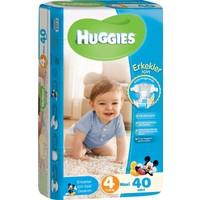 Huggies Oğlum İçin Bebek Bezi Jumbo Paket 4 Beden 40 Adet