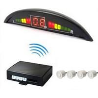 İnwells E2 Led Ekranlı Sesli Geri Park Sensörü Beyaz