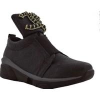 Stella 8012 Taşlı Kadın Ayakkabı Siyah