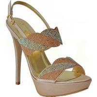 Dream 3064 Topuklu Kadın Ayakkabı Vizon