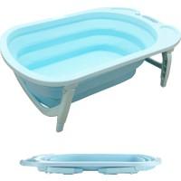 Evokids Katlanabilir Bebek Banyo Küveti - Mavi