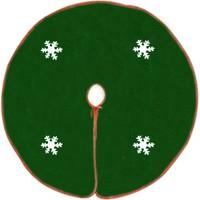 Kostüm Kar Tanesi Desenli Yeşil Yılbaşı Çam Ağacı Altlığı 95 Cm