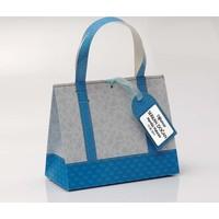 Mevlid Hediyesi Kişiye Özel, Mavi Tasarım Karton Çanta, 10 Adet